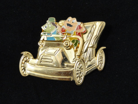 Disneyland 50th Anniversary Park Exclusive MR. TOAD'S WILD RIDE Golden Vehicles Collection 2005 Pin