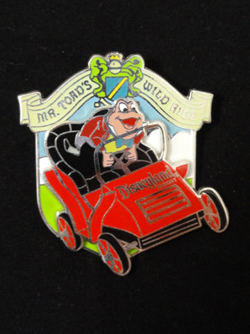 Disneyland Exclusive Rare Retired 2008 MR. TOAD'S WILD RIDE Rocking Car Pin