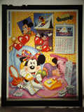 Disney MINNIE & MICKEY MOUSE ON THE PHONE Vintage 1980s Original Production Poster Art Color Kodak Film Plate Slide Image