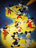 Disney MICKEY MOUSE THROUGH THE YEARS Vintage 1980s Original Production Poster Art Color Kodak Film Plate Slide Image