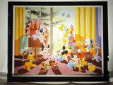 Disney MICKEY MINNIE MOUSE FAB 5 BABIES Vintage 1980s Original Production Poster Art Color Kodak Film Plate Slide Image