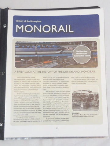 Disneyland Cast Member Exclusive Original MONORAIL Pilot Training Materials & Certificates