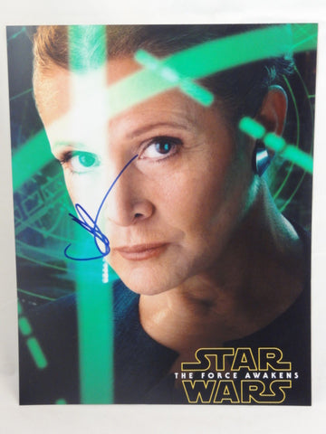 "STAR WARS The Force Awakens Director JJ ABRAMS Original Autograph 11""x14"" Signed Carrie Fisher Photo"