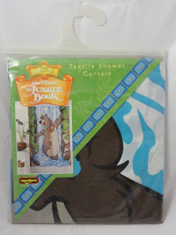 Disney The Jungle Book BALOO Washable Textile Shower Curtain NEW SEALED