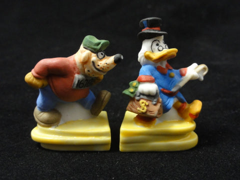 Disney DUCKTALES Scrooge McDuck & Beagle Boy French FEVES Porcelain Figurine Lot
