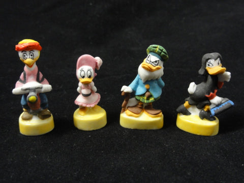 Disney DUCKTALES Scrooge McDuck, Gyro, Magica, Webby, Flintheart Glomgold French FEVES Porcelain Figurine Lot