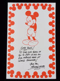 Walt Disney World 25 Anniversary Epcot MICKEY MOUSE Vintage 1996 Kidcot Coloring Sheet Art
