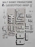 "Vintage ""Walt Disney Productions"" Studios 11""x17"" Direction Map"