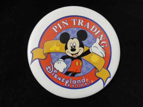 Disneyland Resort PIN TRADING Mickey Mouse Disney Theme Park Exclusive Pin Back Button