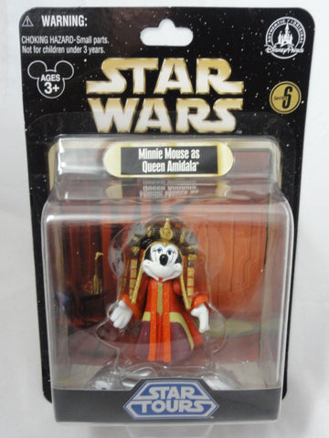 Disney Parks STAR WARS Series 6 MINNIE MOUSE AS QUEEN AMIDALA Action Figure 2012 Star Tours Toy