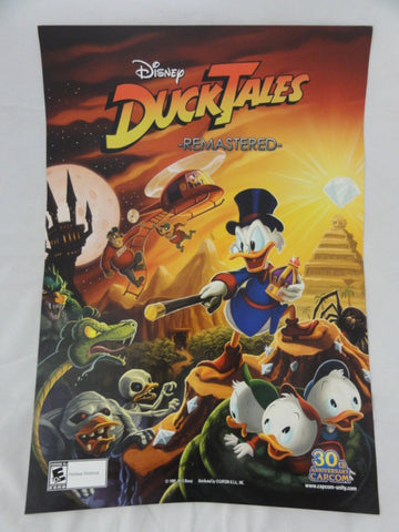 "Disney Capcom 2013 SDCC Exclusive DUCKTALES REMASTERED Retired 14""x20"" Video Game Promo Poster"