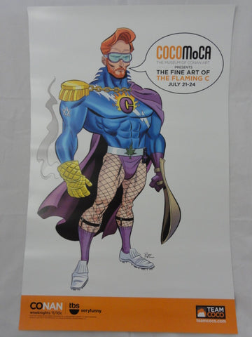 "2011 SDCC Exclusive CONAN O'BRIEN Fine Art Of The Flaming C Team COCO 11""x17"" Art Print Poster"