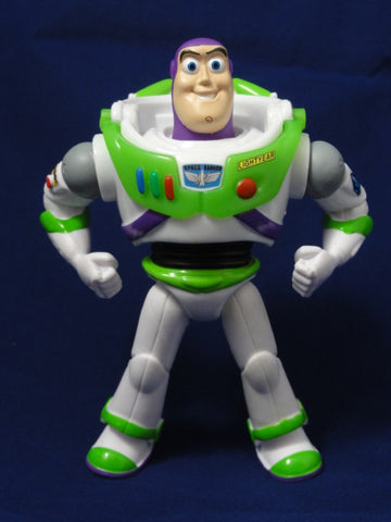 "Disney Mattel 2012 TOY STORY OF TERROR 4"" BUZZ LIGHTYEAR Glow In The Dark Posable Action Figure"