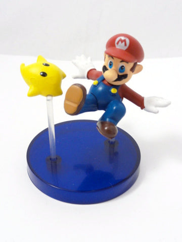 Nintendo Yujin Toy SUPER MARIO GALAXY Mario & Star Figure