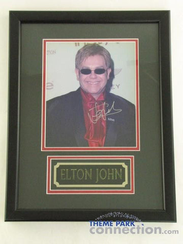 "ELTON JOHN SIGNED Original Autograph Framed Photo Photograph 18""X14"" Display"