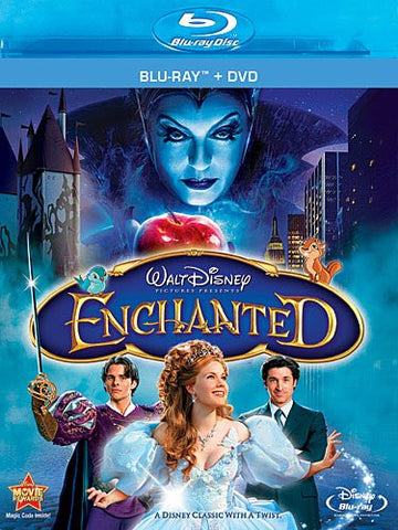 Disney ENCHANTED 2007 Amy Adams Movie Blu-ray DVD 2 Disc Set