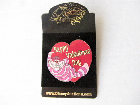 Disney Auctions Exclusive 2004 LE Cheshire Cat Valentines Day Pin