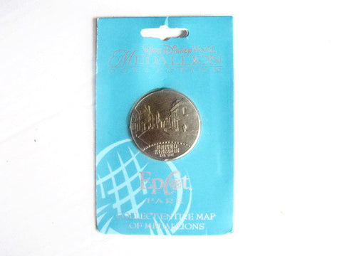 Disney World Medallion Collection ECOT Park Map U.K. Coin