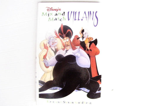 Disney's Mix And Match Villains 1997 Hardcover Children's Book