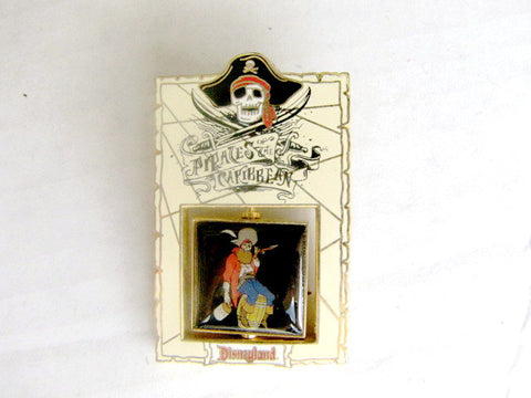 Pirates of the Caribbean 2003 Barrel Pirate Disneyland LE Spinner Pin