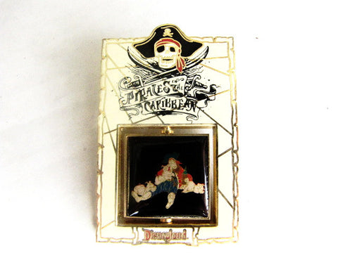 Pirates of the Caribbean 2003 Pigpen Pirate Disneyland LE Spinner Pin