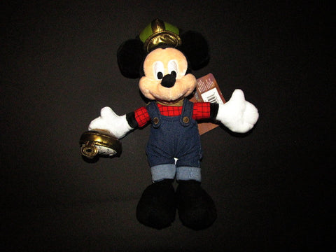 Disney Parks 2005 LE Train Conductor Mickey Bean Bag Plush
