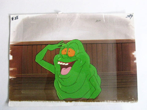 The Real Ghostbusters Animated TV Series Slimer Cel & Background