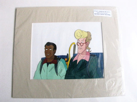 The Real Ghostbusters Animated TV Series Winston & Egon Production Cel