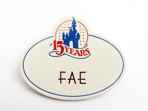 Disney World 15th Anniversary Cast Member 1986 Name Tag (Fae)