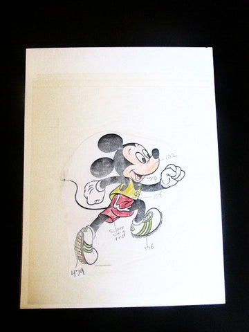 Walt Disney Vintage Mickey St. Patrick's Day Event WDI Color Model Art