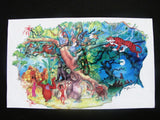 Tokyo DisneySea Rare 1992 Jungle Book Ride WDI Circulated Concept Art Printout
