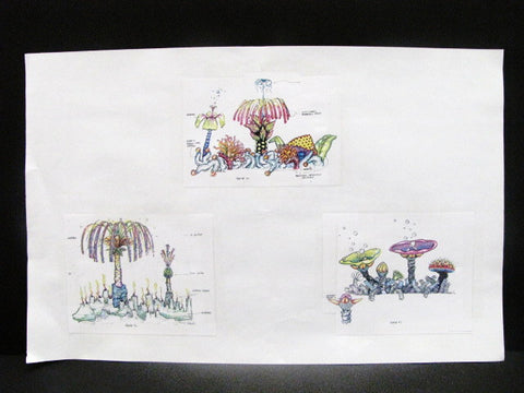 Disney World Rare EPCOT Splashtacular Roof Tops WDI Circulated Concept Art