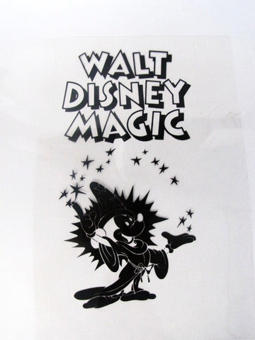 Walt Disney Design Sorcerer Mickey Art Design Plate Sheet