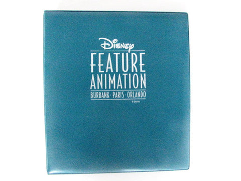 Walt Disney Feature Animation Cast Member Turquoise 3-Ring Binder