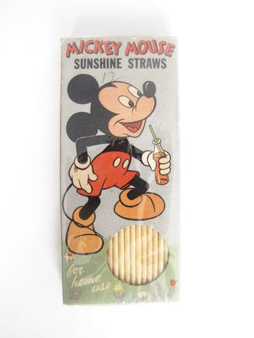 Walt Disney Productions 1960's Mickey Mouse Sunshine Straws