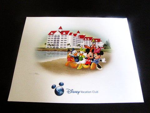 Disney Vacation Club 2014 Grand Floridian Don Williams Hand Signed Lithograph