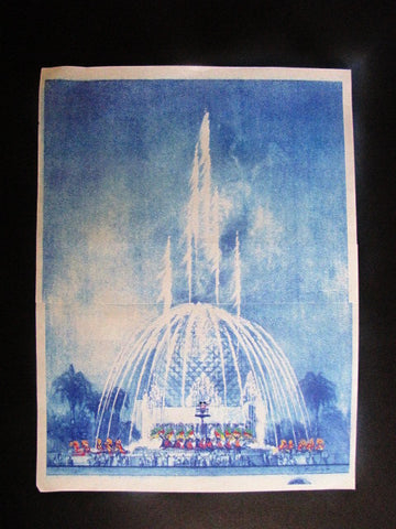 Disney World Rare EPCOT Splashtacular Spaceship Earth WDI Circulated Concept Art Printout