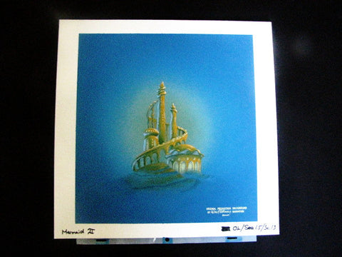 Walt Disney Animation The Little Mermaid 2 Authentic Production Background