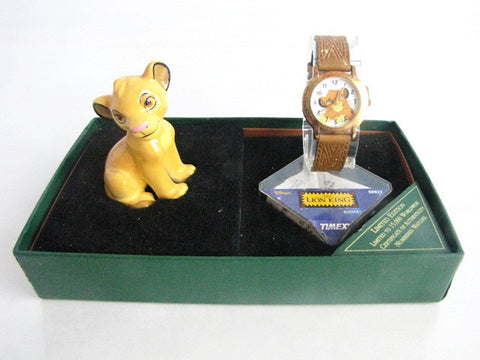 Walt Disney 1994 LE The Lion King Simba Watch & Figurine Set