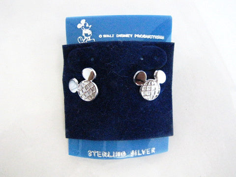Walt Disney World Vintage Atlas Logo Sterling Silver Earrings