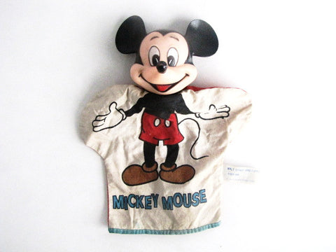 Walt Disney Productions Vintage Mickey Mouse Hand Puppet