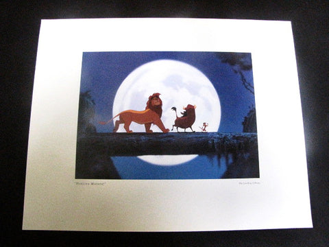 "Walt Disney Parks ""Hakuna Matata"" The Lion King Litho Print"