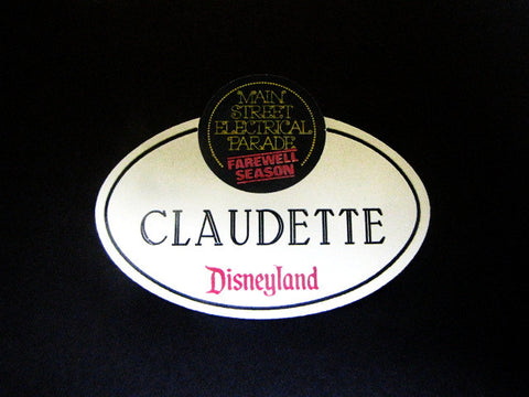 Disneyland 1996 Main Street Electrical Parade Farewell Season Cast Name Tag