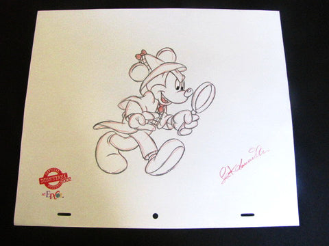 Disney World 2002 Disneyana M. Mouse Private Eye Artist Signed Sketch