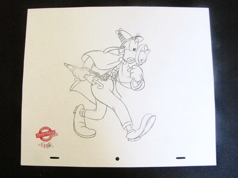 Disney World 2002 Disneyana Detective Goofy EPCOT Sketch