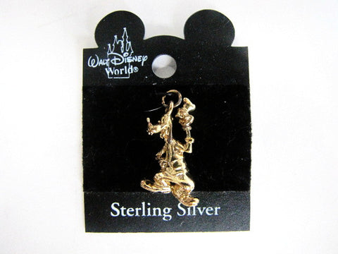 Walt Disney World Retired Goofy Gold Tone Sterling Silver Charm