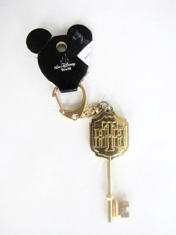 Disney Parks Retired Tower Of Terror Gold Key Keychain
