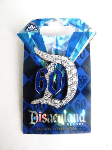 Disney 2015 LE Disneyland Diamond Celebration Jeweled Pin