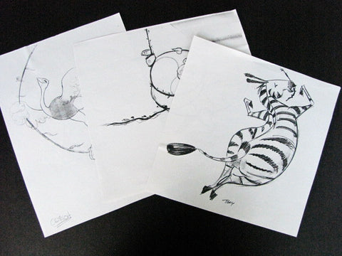 Disney World Lion King Animals WDI Circulated Concept Art Prints