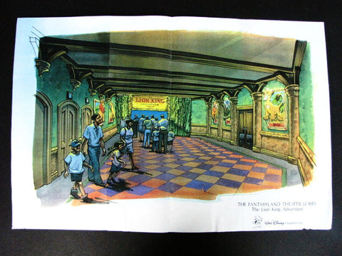 Disney World Legend Of The Lion King Theater WDI Concept Art Print